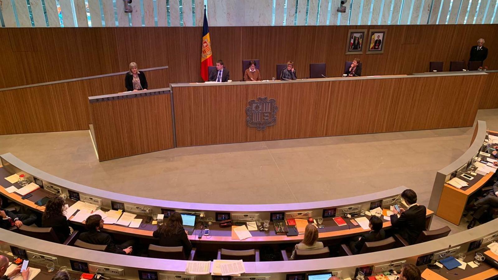 El ple del Consell General d'aquest dijous. / C. A. (ANA)