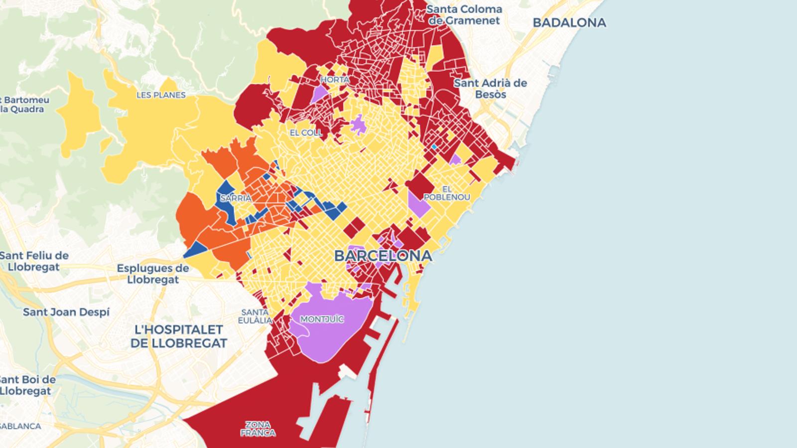 Mapa: Els resultats del 28-A a Barcelona, carrer a carrer