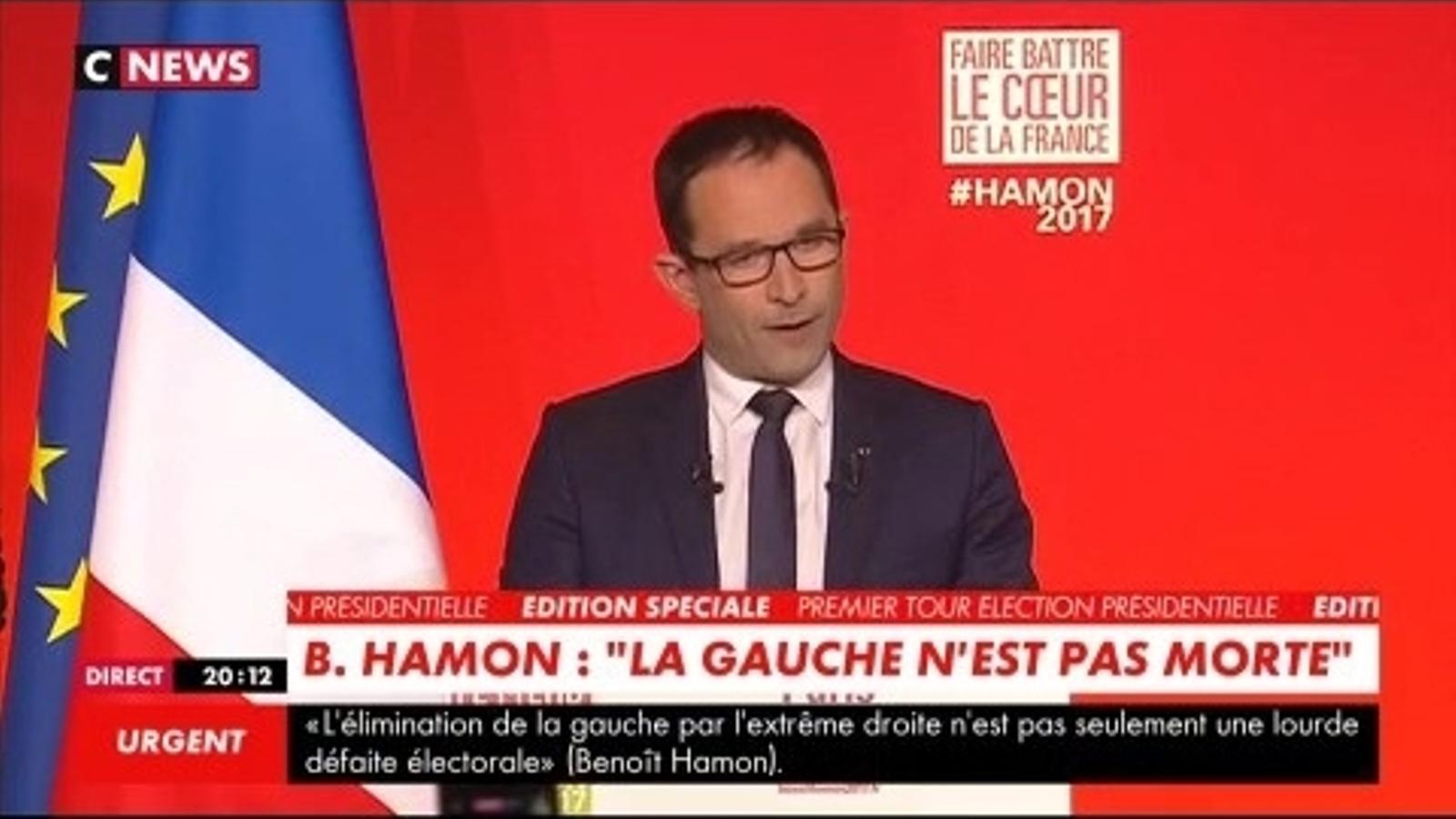 Hamon ha demanat el vot per Macron a la segona volta.