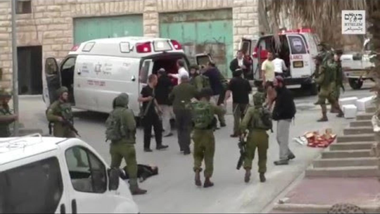Vídeo que mostra l'execució del palestí.
