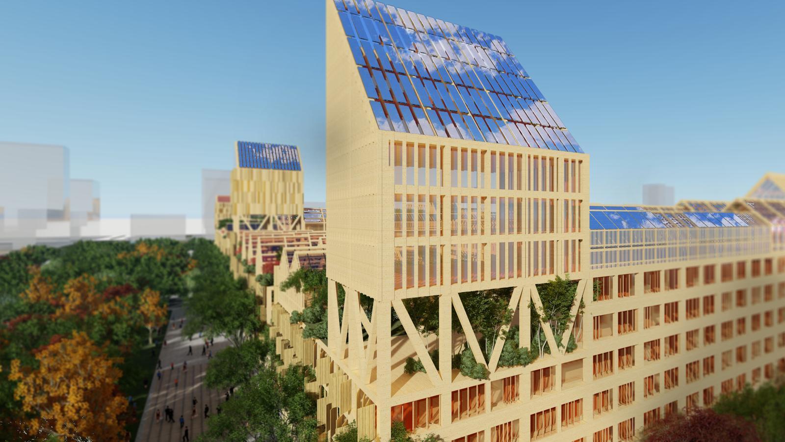 Les cobertes inclinades dels futurs habitatges de Vicente Guallart a Xiong'an tindran plaques solars per produir energia