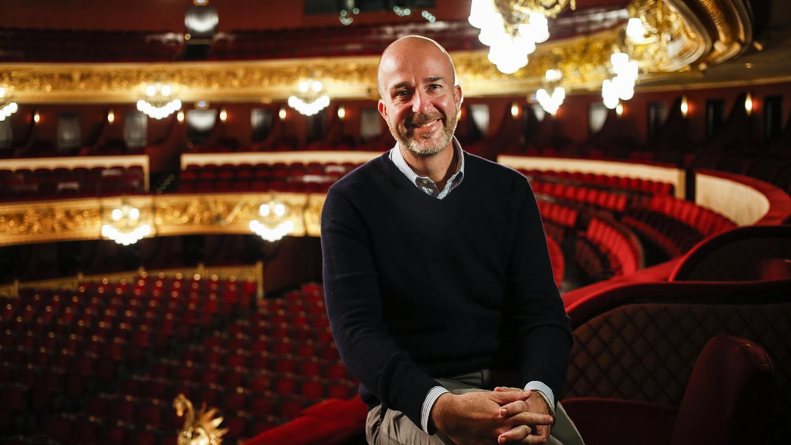 íctor Garcia de Gomar, director artístic del Gran Teatre del Liceu, fotografiat aquest matí