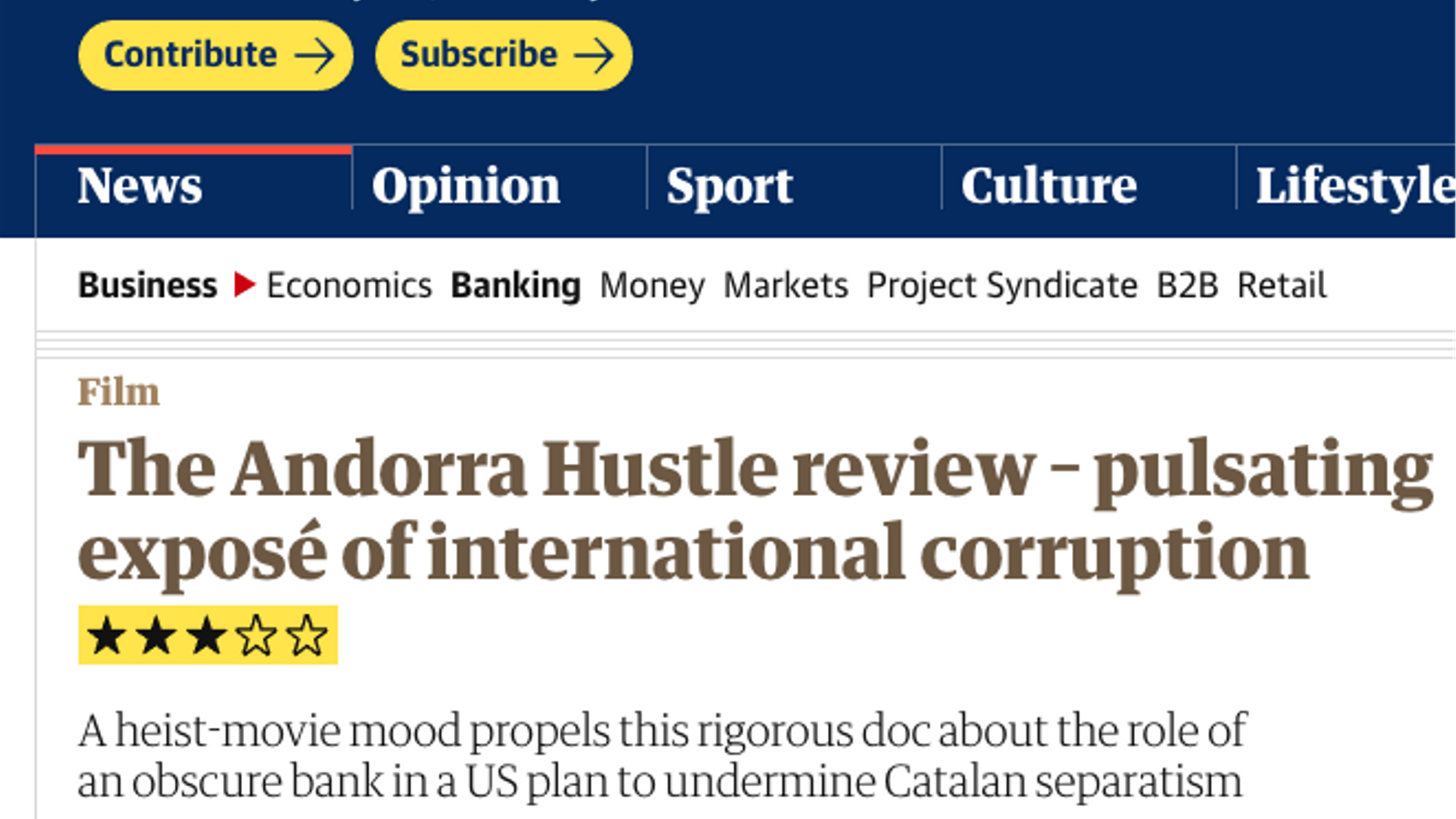 'L'Estafa d'Andorra' arriba al 'The Guardian'