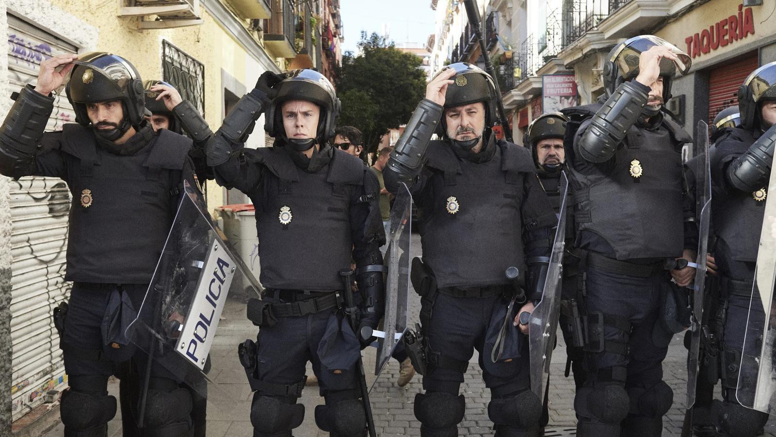 Els protagonistes d''Antidisturbios'