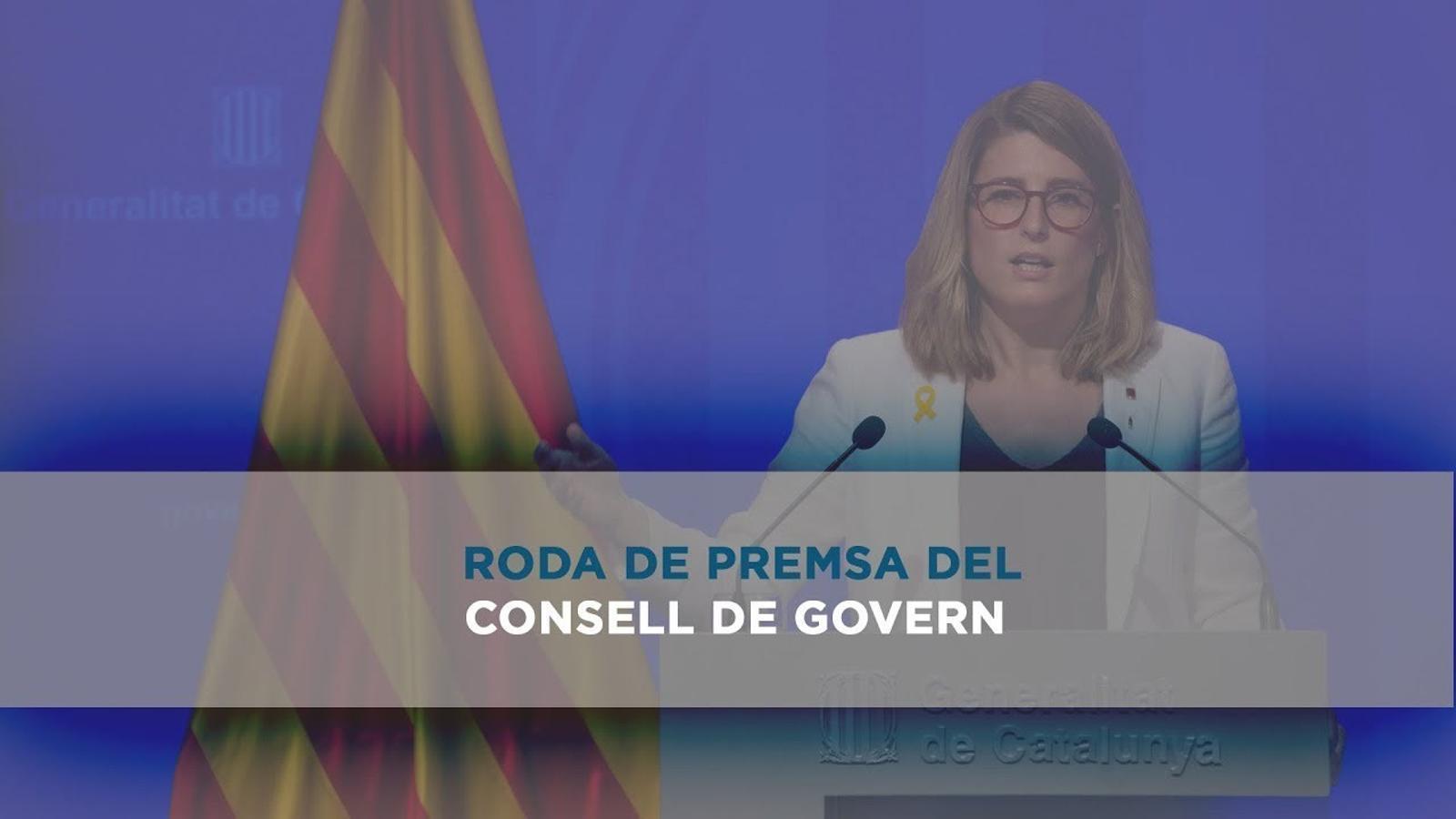Roda de premsa del consell de Govern