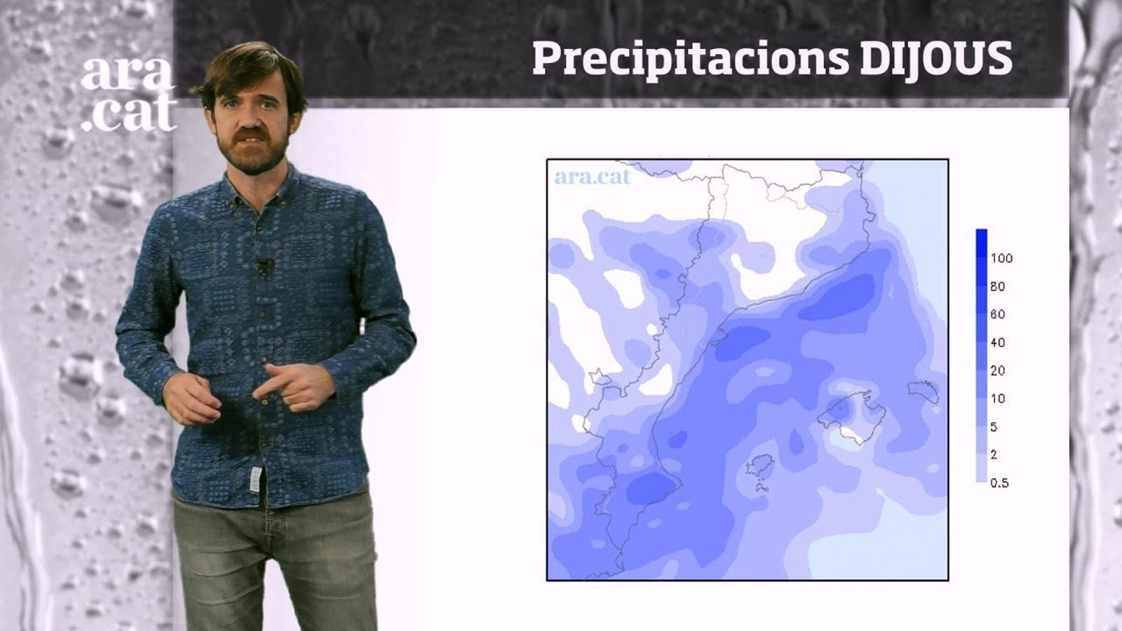 La méteo en 1 minut: el risc de pluja augmentarà entre dimecres i dijous