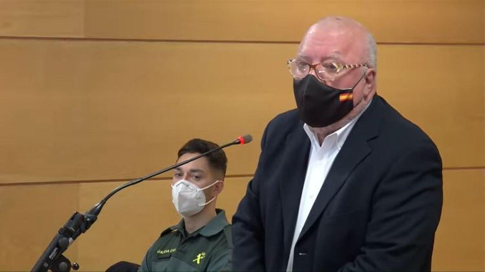 L'excomissari José Manuel Villarejo, declarant en el judici sobre presumptes calúmnies contra l'exdirector del CNI