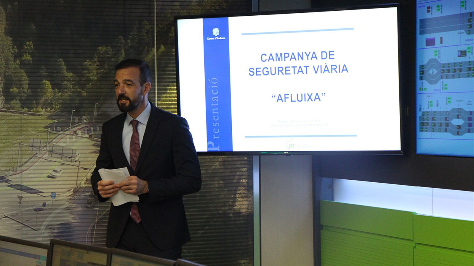 El ministre d'Ordenament Territorial, Jordi Torres, durant la presentació de la campanya. / B.N. (ANA)