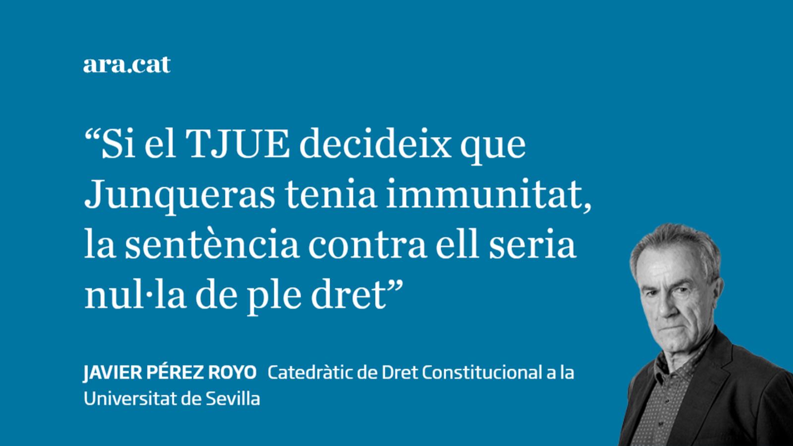 L'advocat general i la immunitat d'Oriol Junqueras
