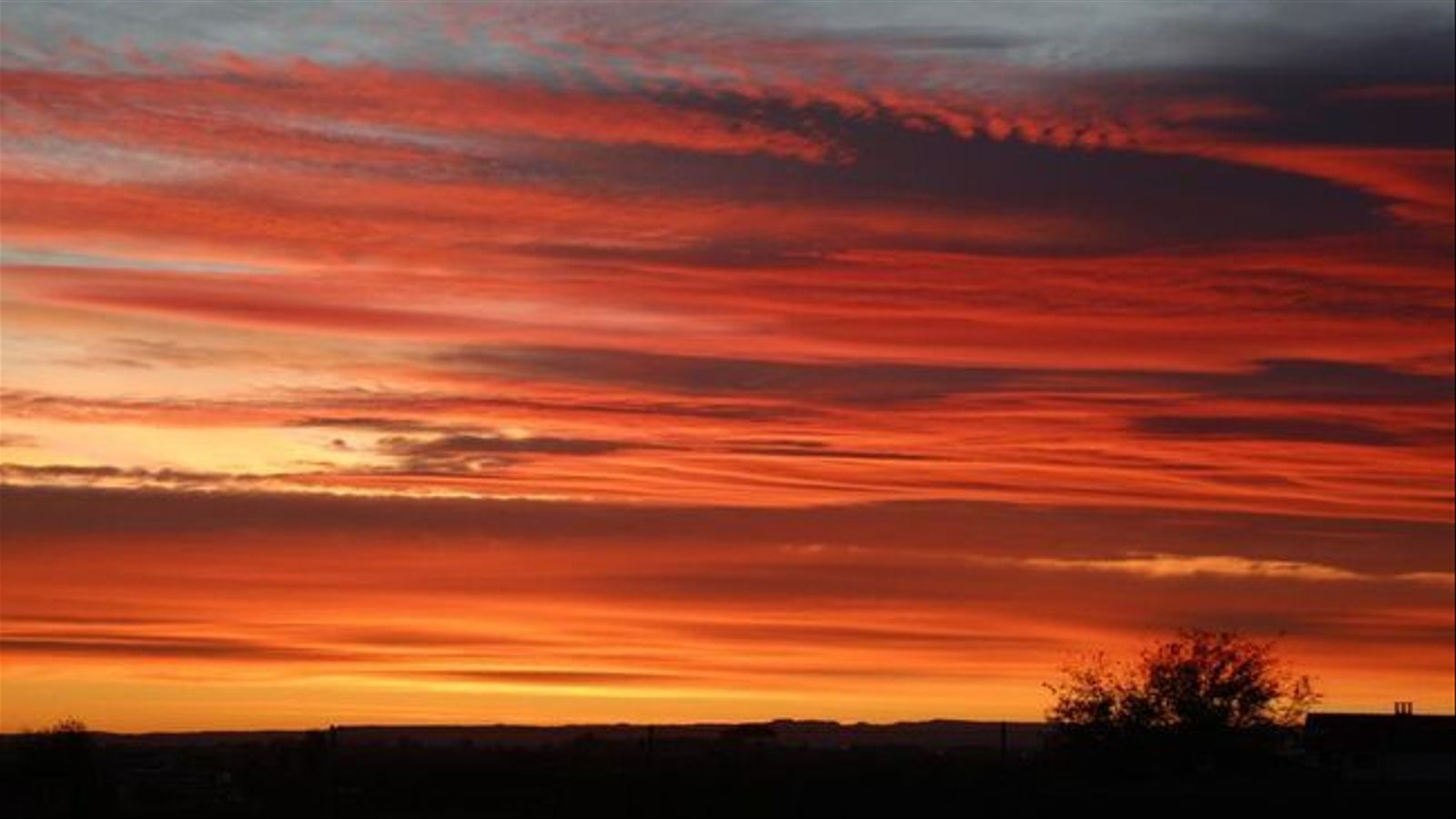 Els núvols prims han afavorit una albada preciosa avui a Ivars d'Urgell / XAVIER COLL