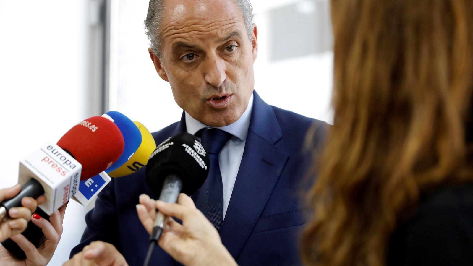 L'expresident valencià, Francisco Camps, valorant la decisió de l'Audiència Nacional d'investigar el seu paper en els contractes amb Orange Market
