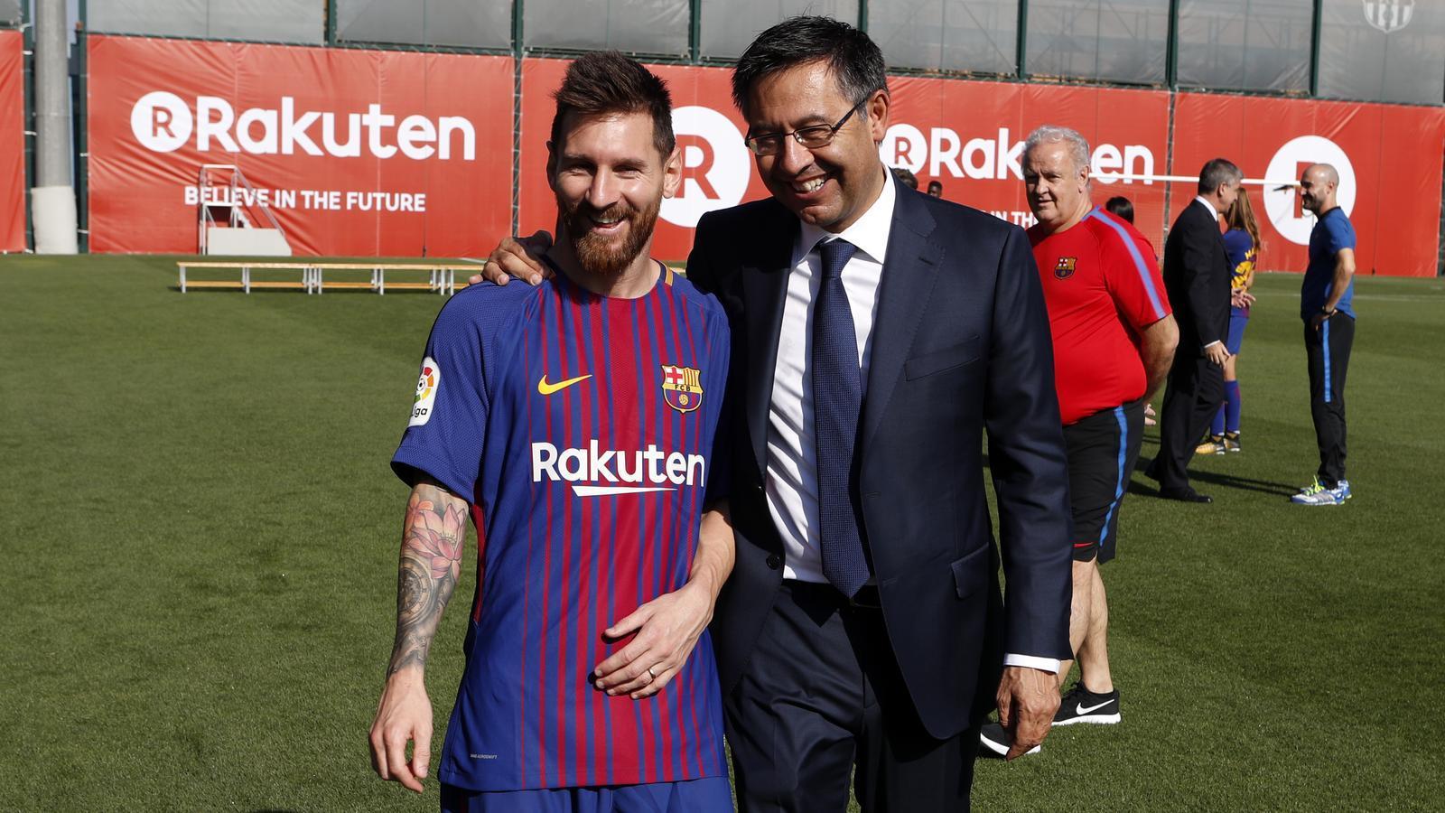 Leo Messi i Josep Maria Bartomeu