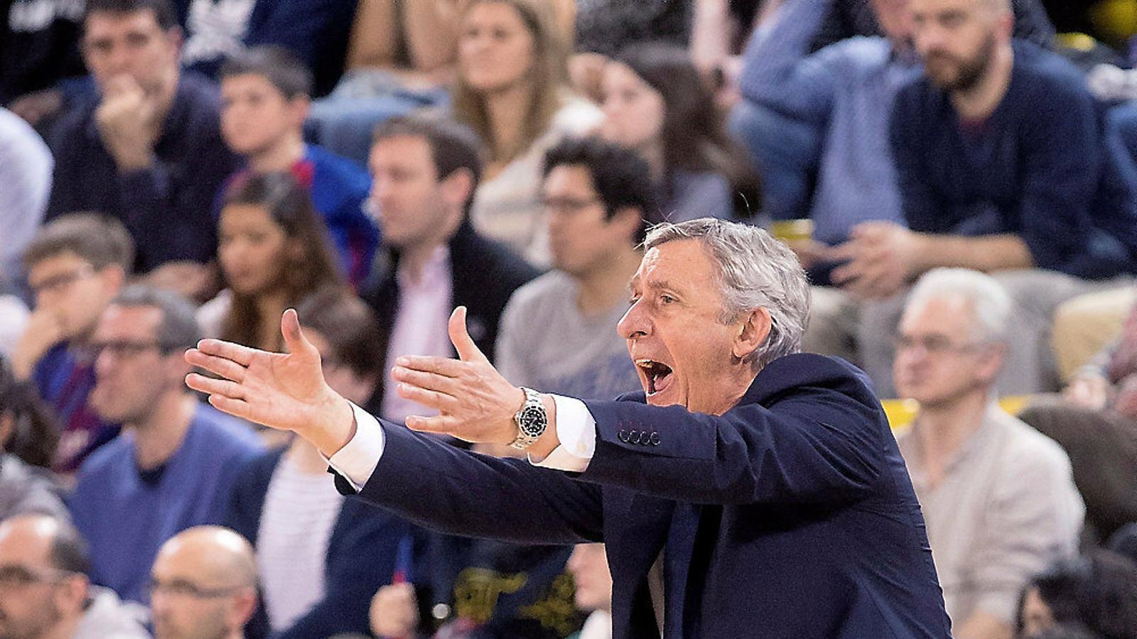 El tècnic del Barça Lassa de bàsquet, Svetislav Pesic.