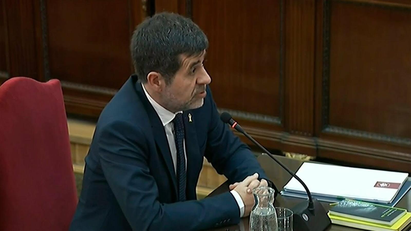 """Jordi Sànchez: """"Jo amb un megàfon no sóc capaç de desmobilitzar una manifestació"""""""