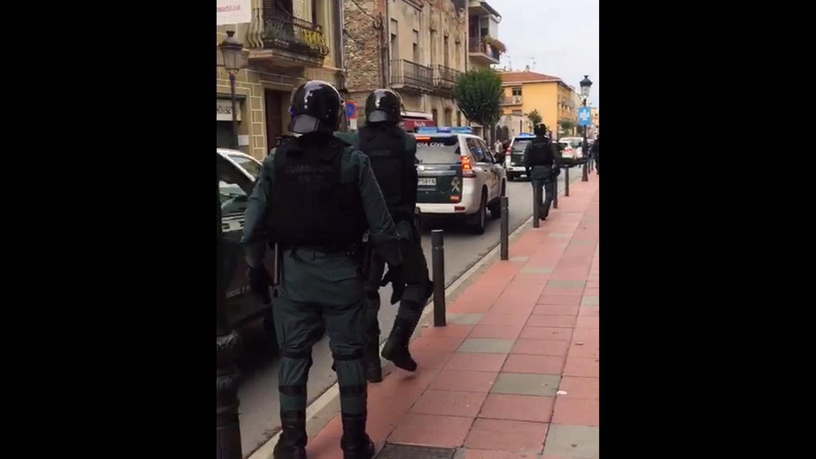 La Guàrdia Civil arriba a Sant Celoni