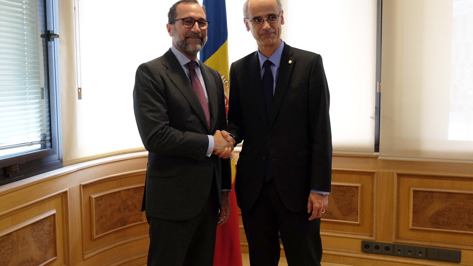 Martí i Costos reafirmen les bones relacions entre Andorra i els EUA