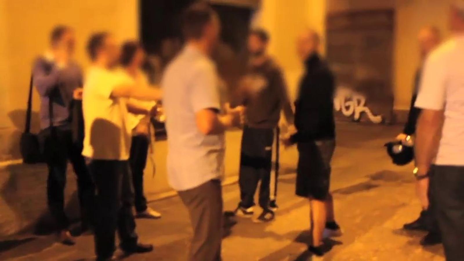Vídeo de l'agressió a un grup d'ucraïnesos a Barcelona