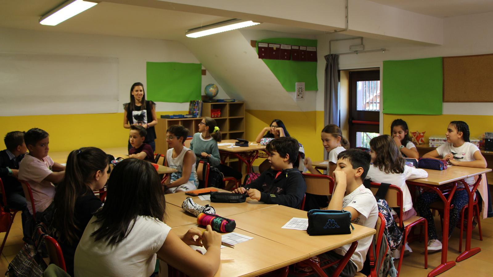 Alumnes a l'escola andorrana de Sant Julià de Lòria. / M. F. (ANA)