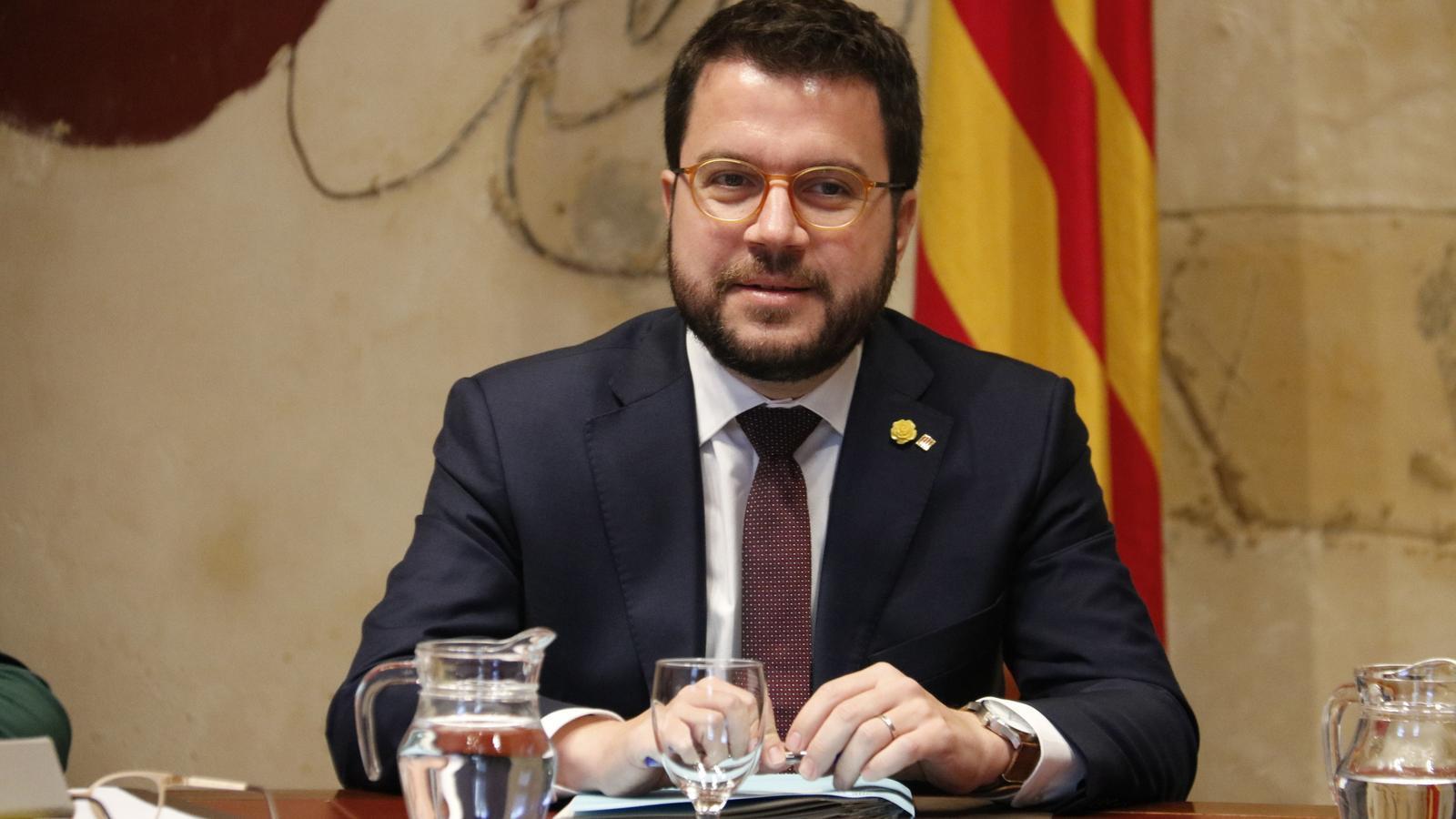 """Aragonès veu """"molt verd"""" l'acord amb el PSOE i demana la taula de diàleg en """"qüestió de setmanes"""""""