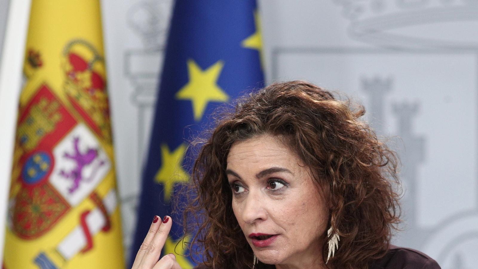 La ministra d'Hisenda, María Jesús Montero, aquest dimarts.