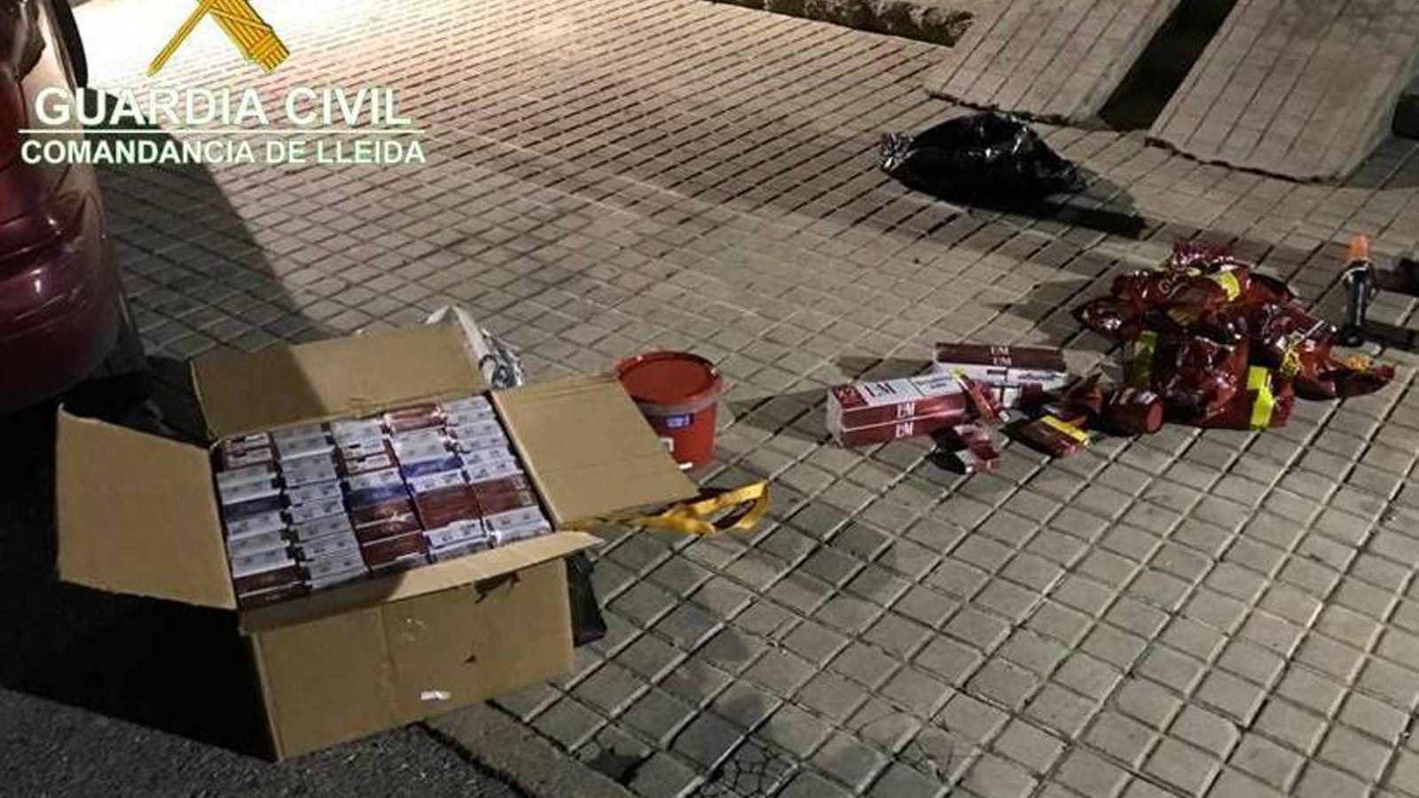 El tabac comissat a Oliana. / GUÀRDIA CIVIL