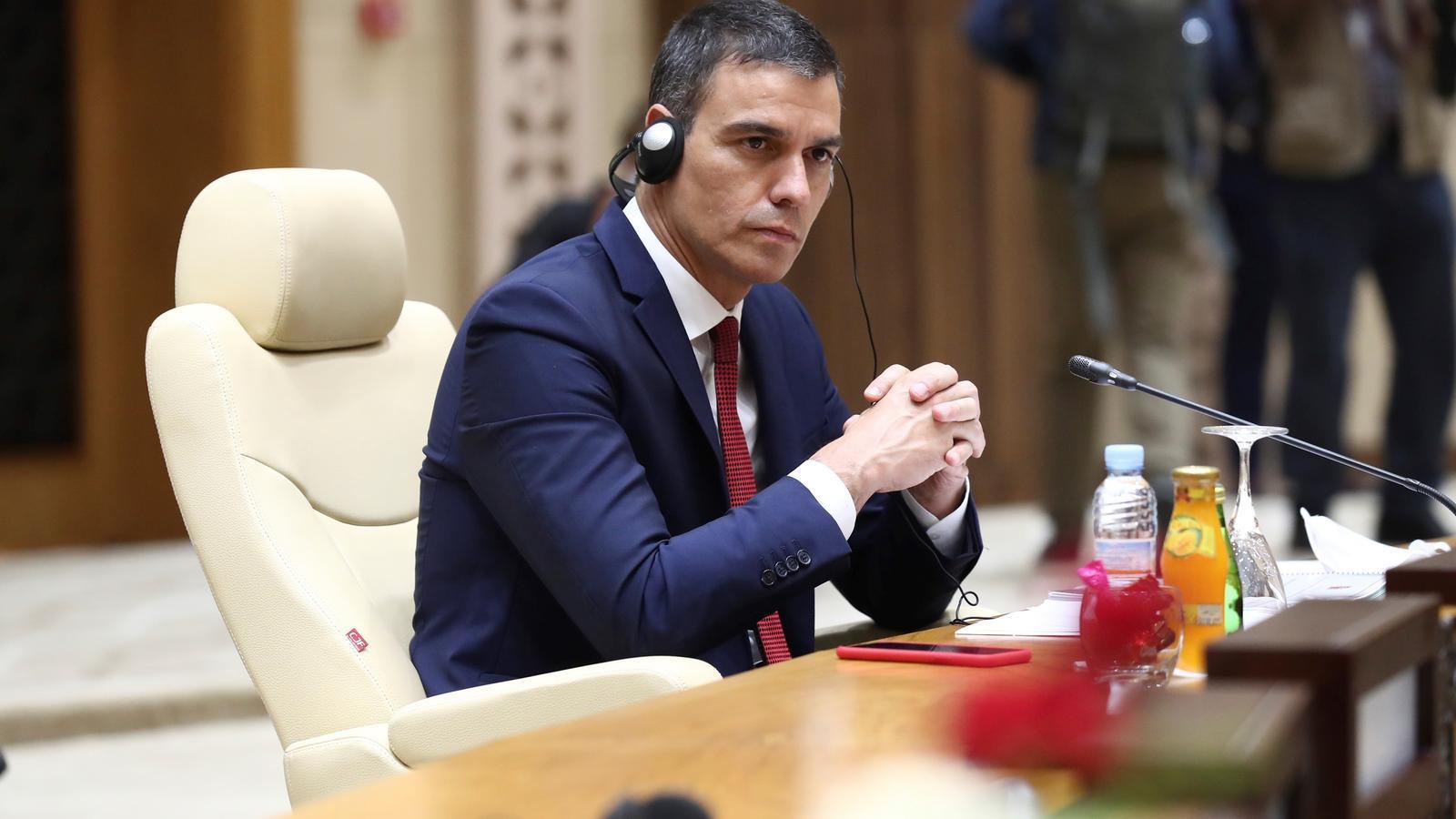 El president del govern espanyol, Pedro Sánchez, el dimarts a la cimera sobre el Sahel a Mauritània.
