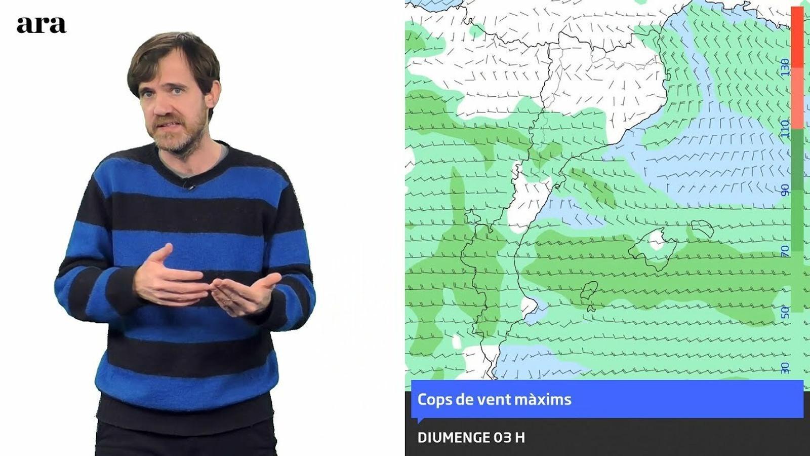 La méteo: cap de setmana ventós a l'espera de pluges i nevades