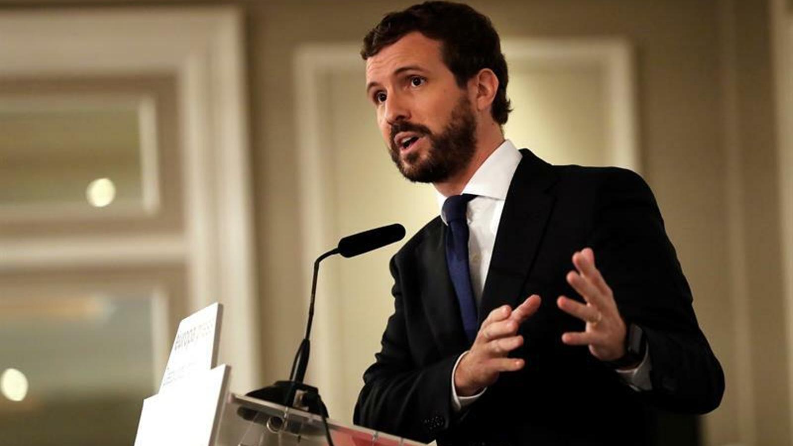 Pablo Casado serà qui respondrà a la moció de censura de Vox