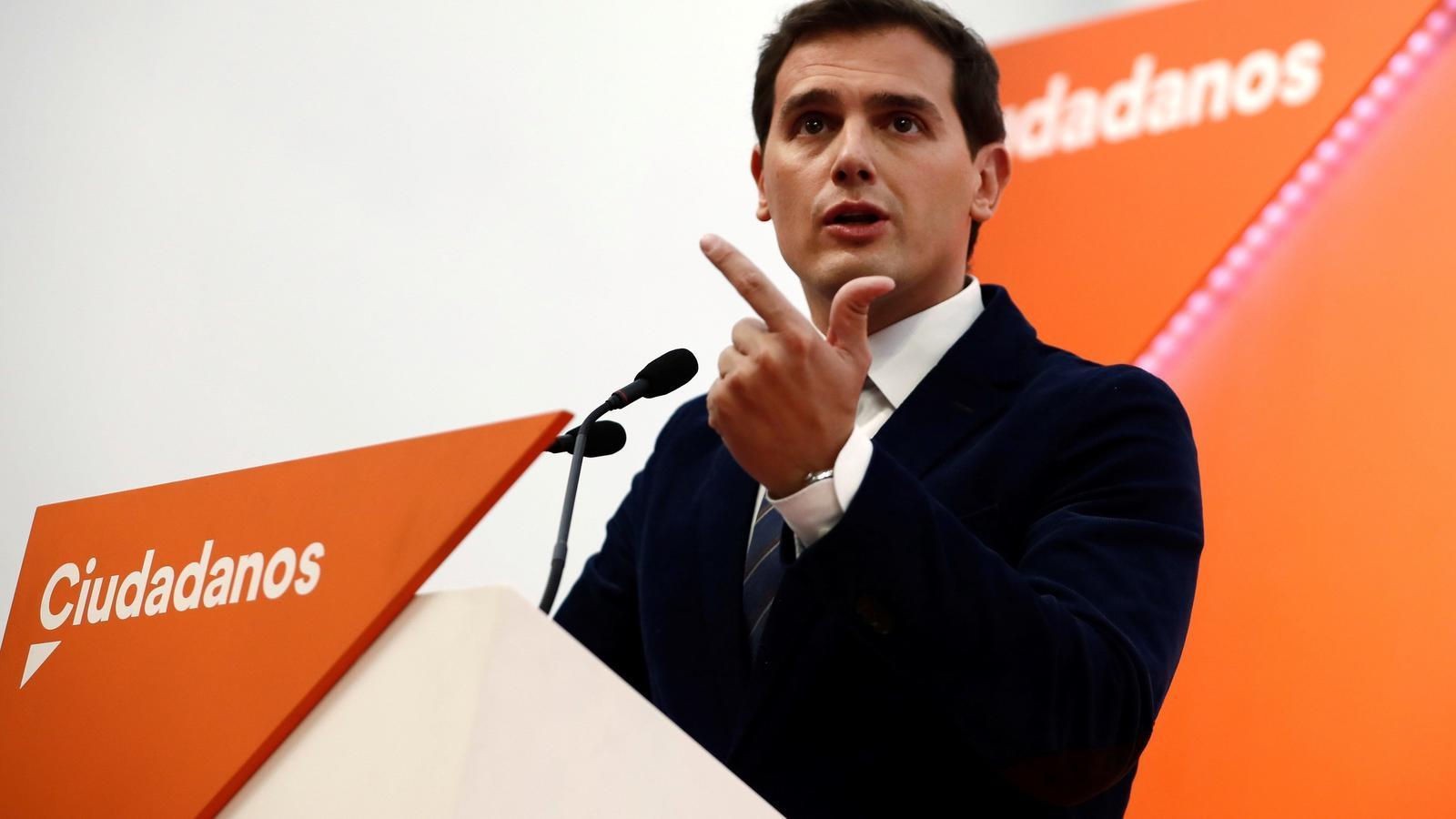 Rivera adverteix al PP i a Vox que no acceptarà que s'alteri l'acord de govern a Andalusia