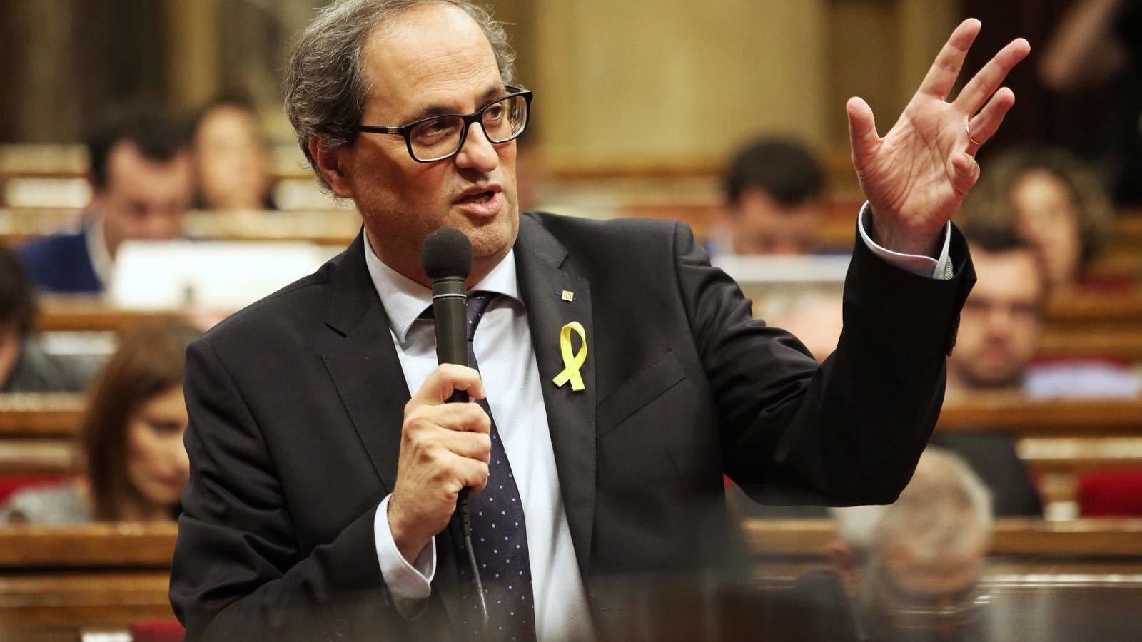 Els lletrats del Parlament conclouen que Torra podria seguir de president sense escó