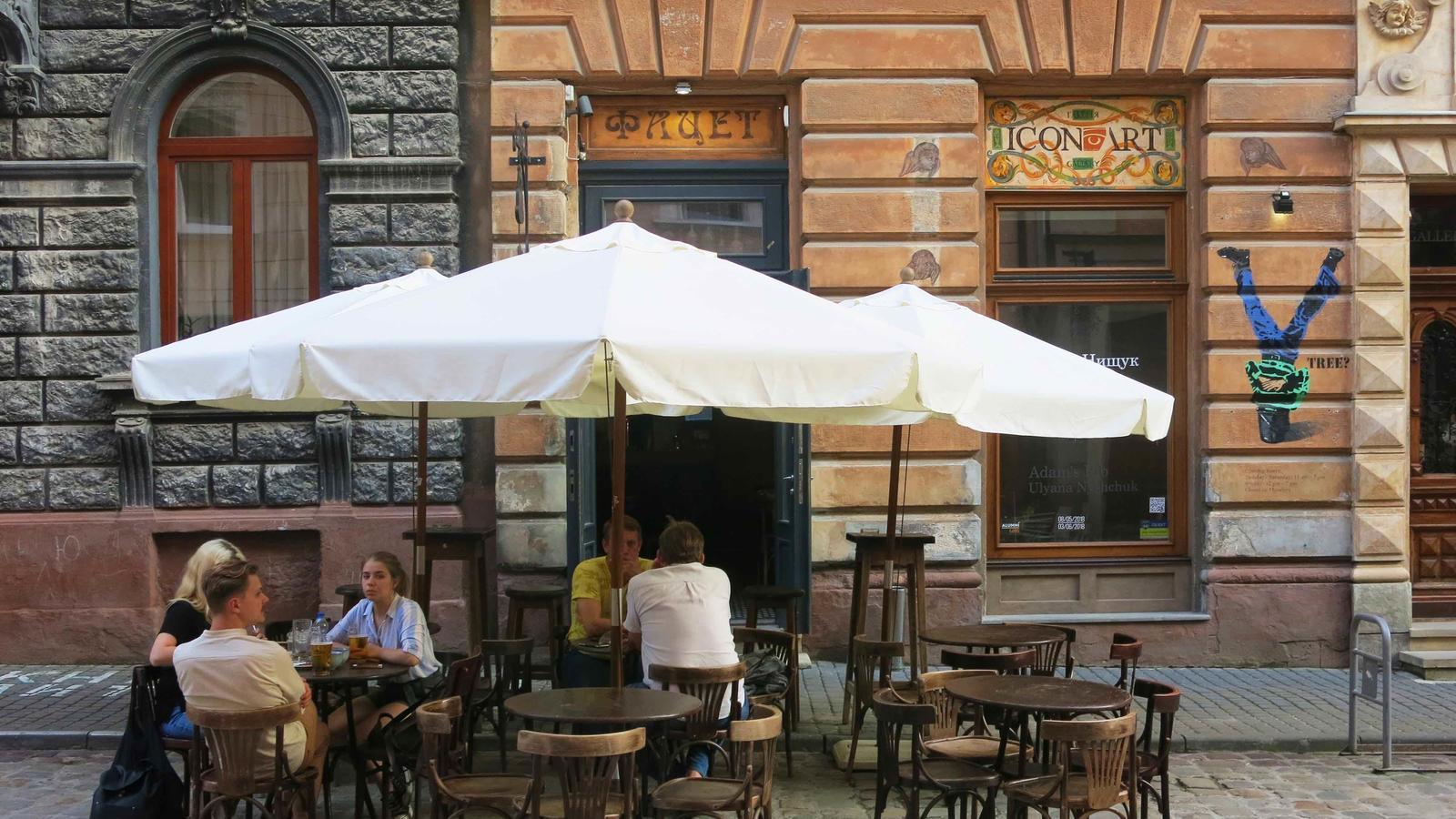 Un cafè de la ciutat vella de Lviv