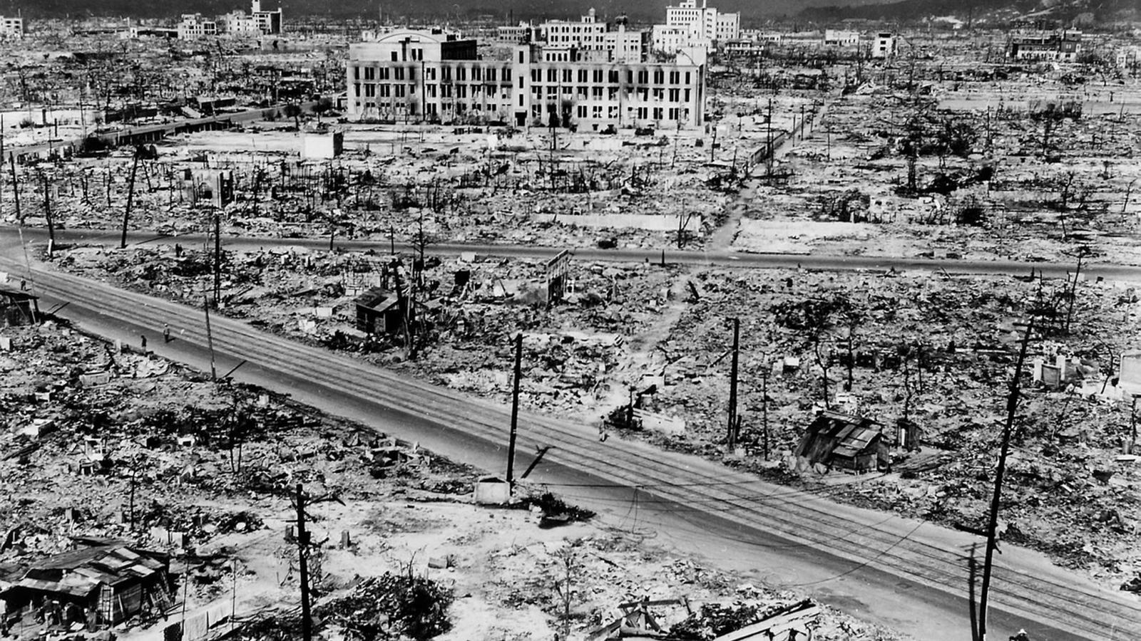 La bomba va destruir 12 quilòmetres quadrats d'Hiroshima.