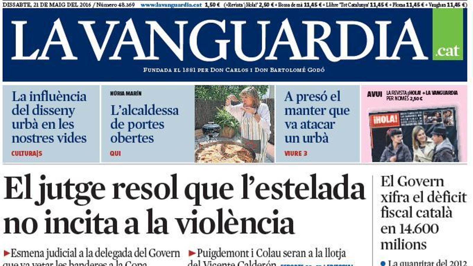 Portada 'La Vanguardia'