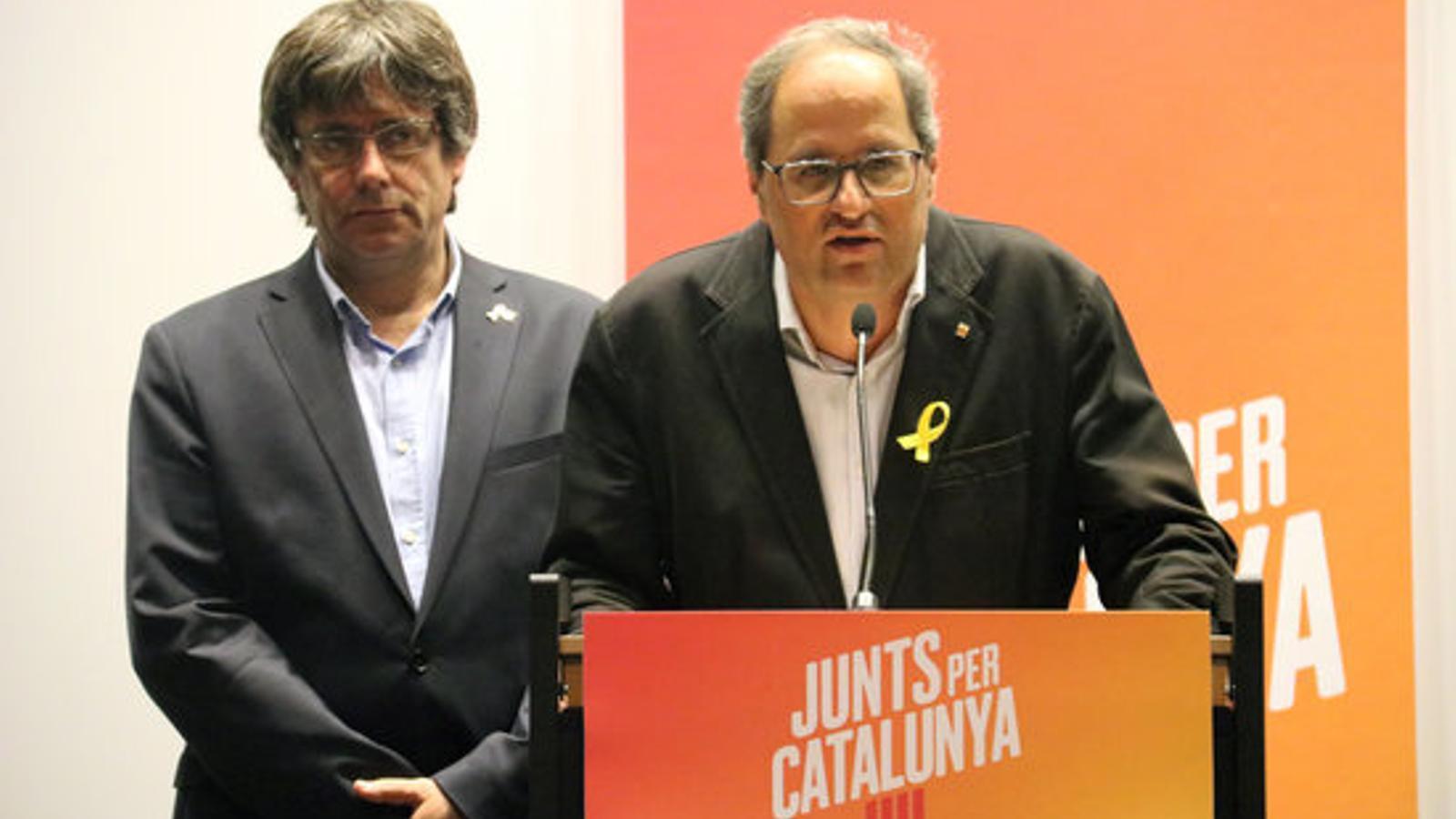 """Torra assegura que està disposat a arribar """"tan lluny"""" com Puigdemont"""