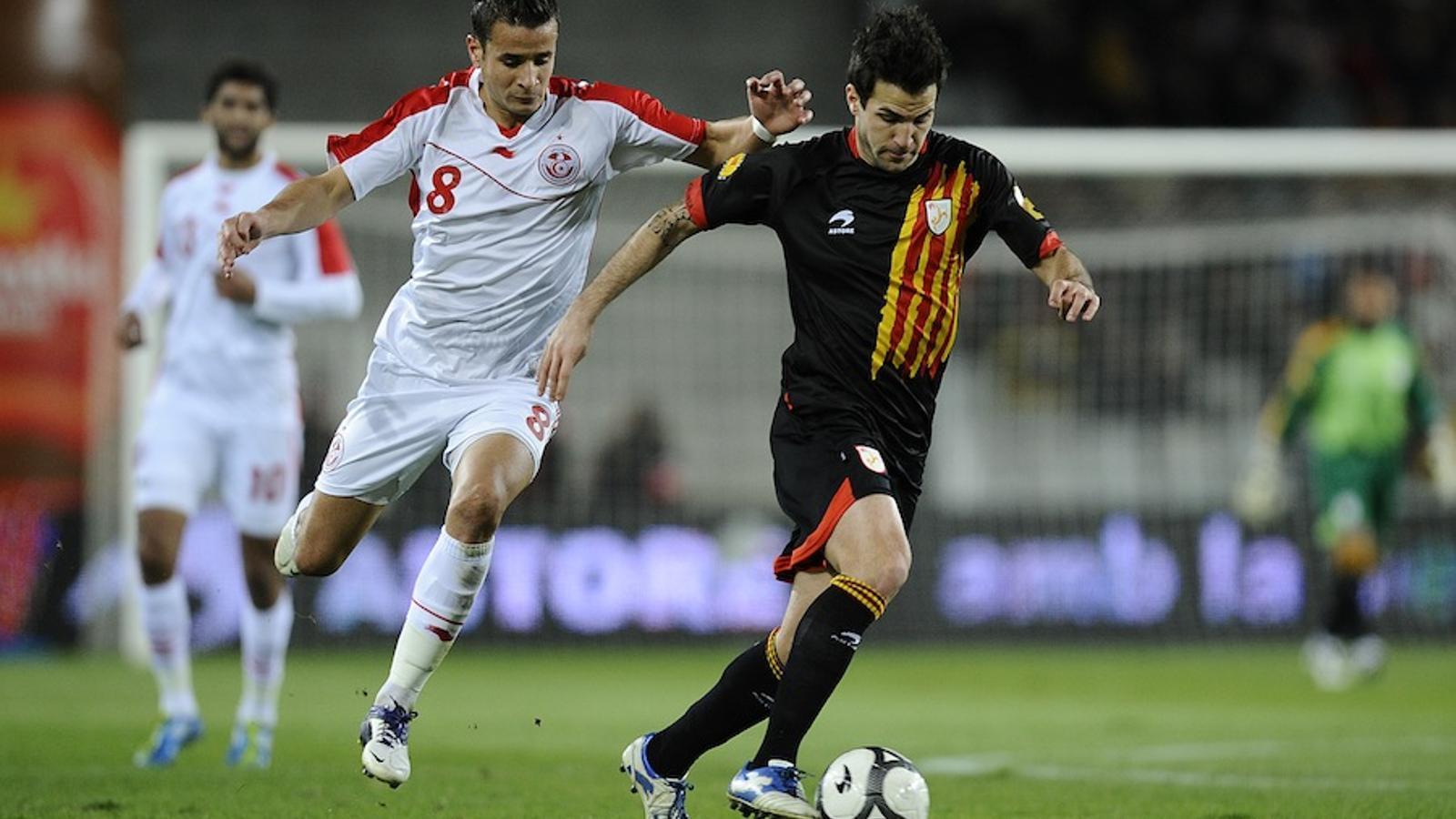 Cesc Fàbregas, en el seu retorn a la selecció catalana.
