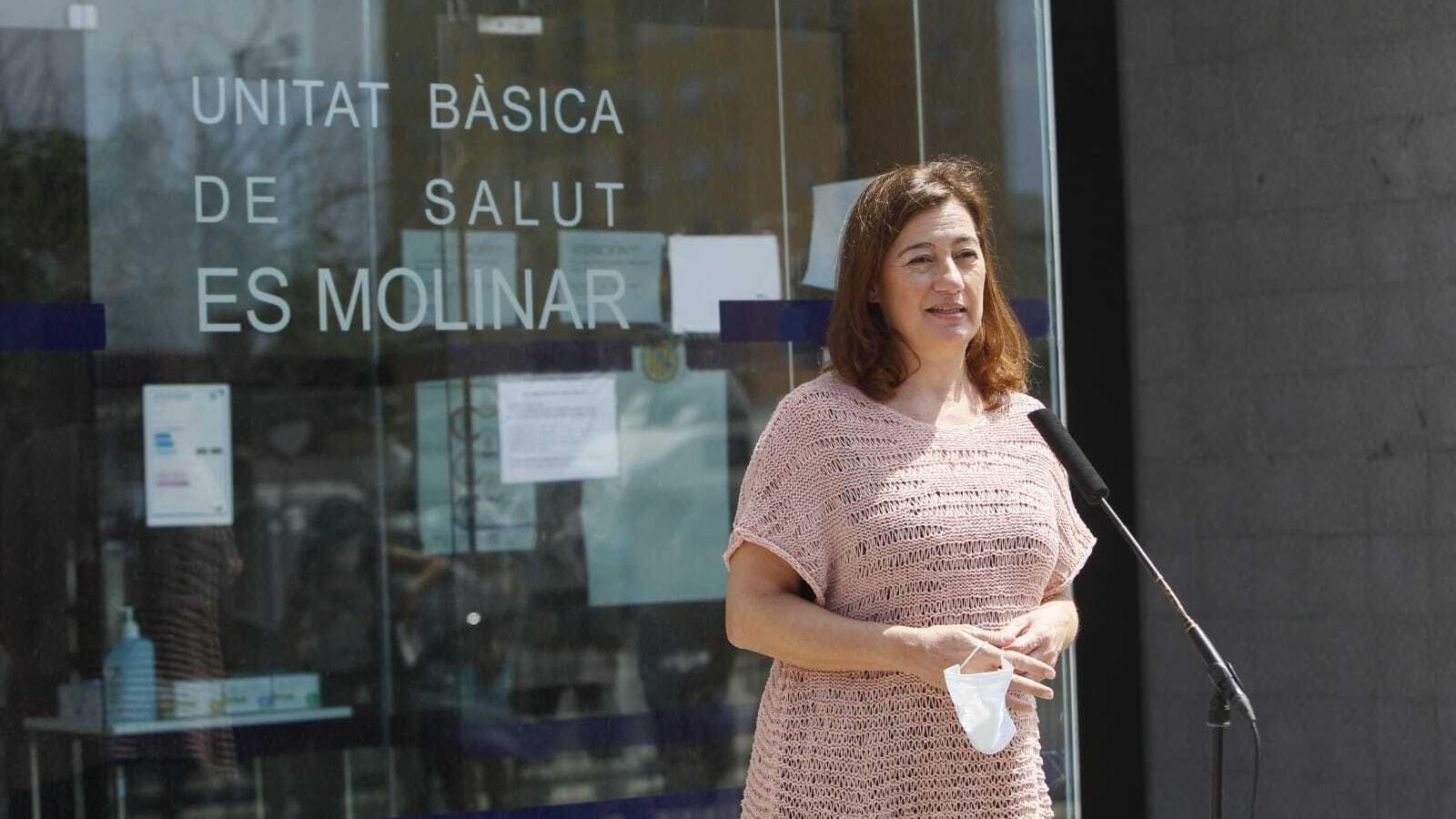 La presidenta Francina Armengol a la Unitat Bàsica de Salut d'Es Molinar