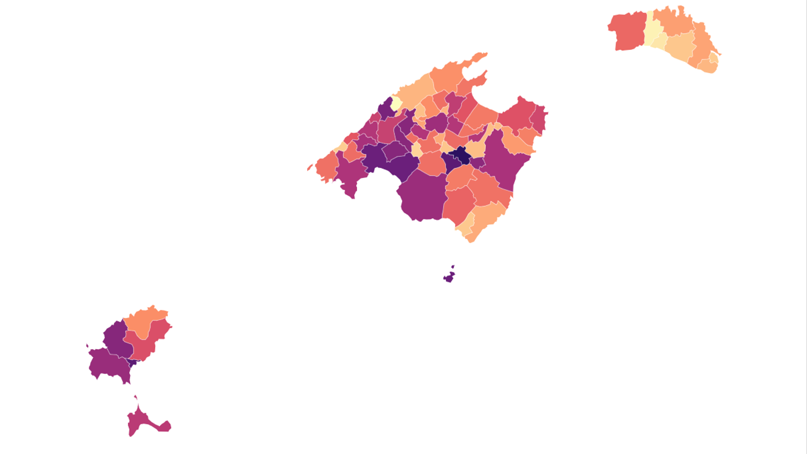 La incidència del covid-19 a les Balears, municipi per municipi