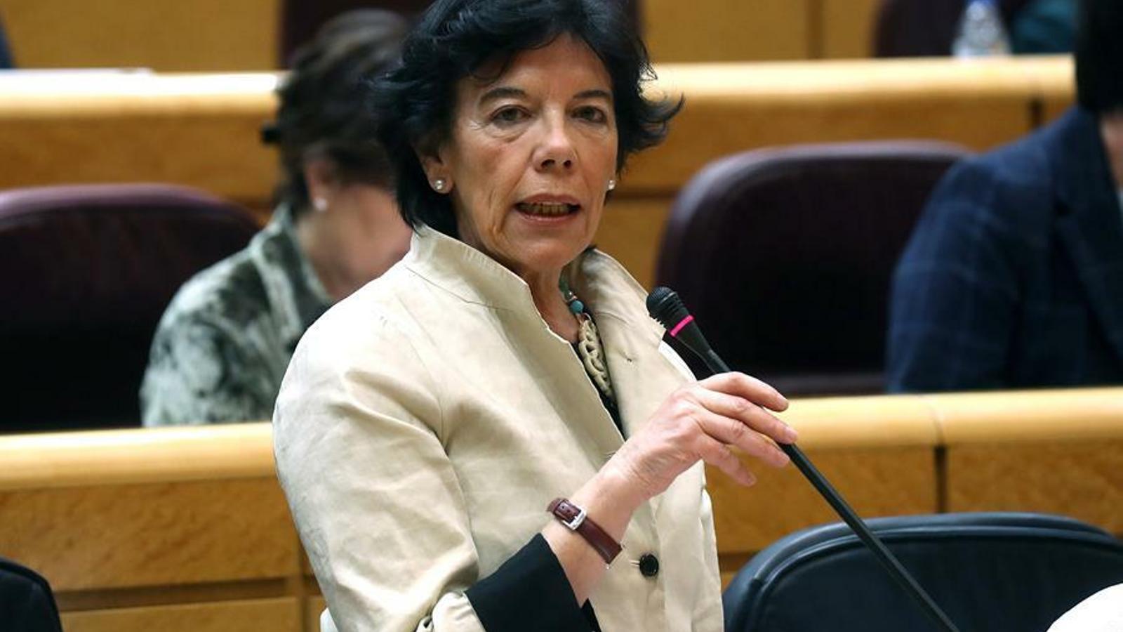 La ministra d'Educació, Isabel Celaá, va donar un mes de termini a Múrcia per retirar el veto parental.