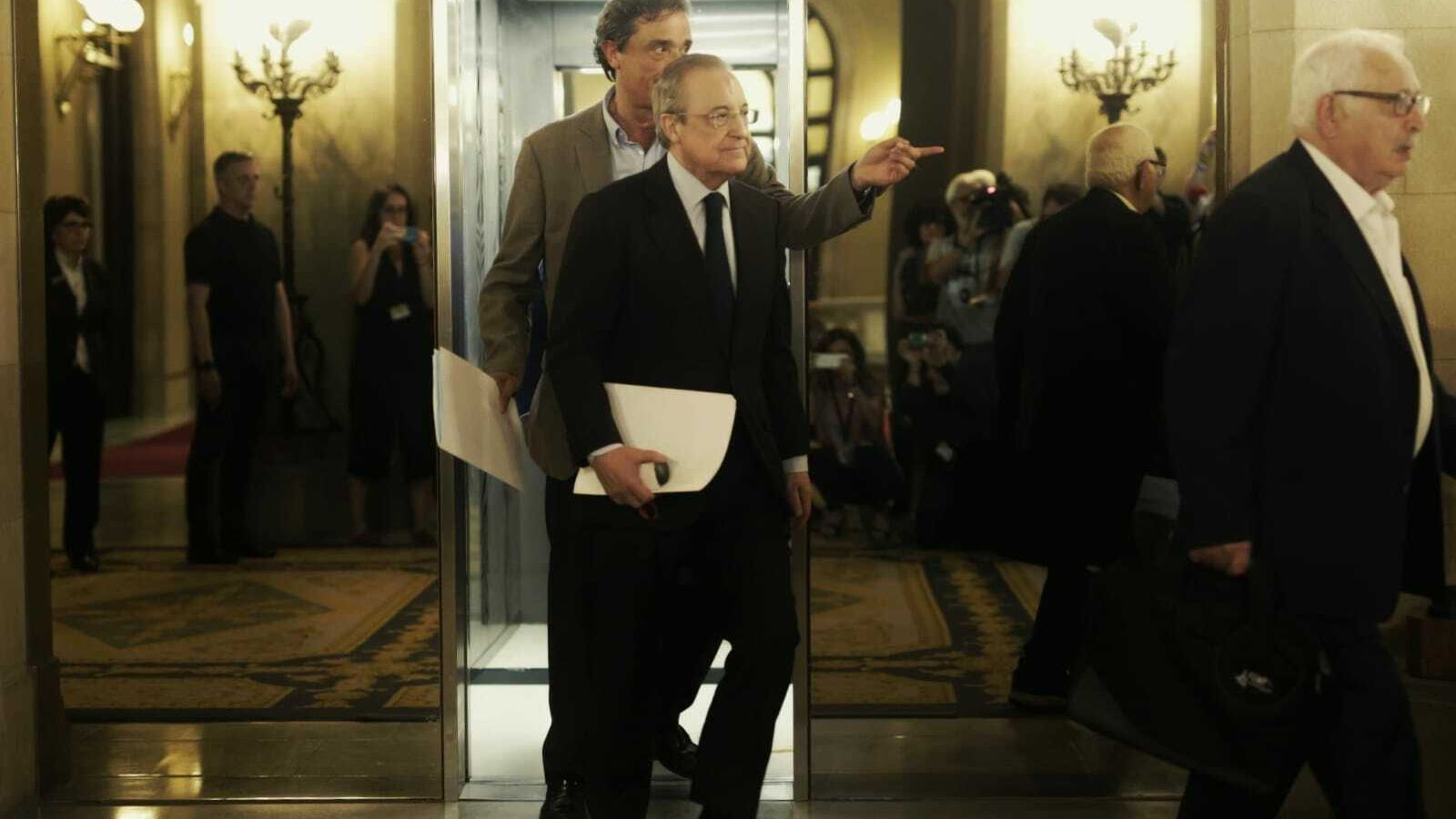 Florentino Pérez arriba al Parlament per comparèixer a la comissió d'investigació del cas Pastor