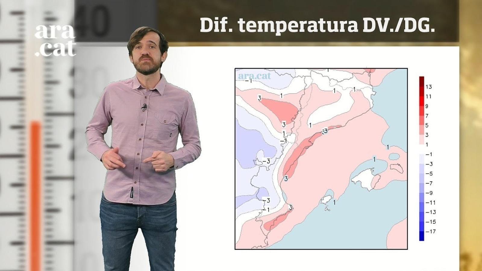 La méteo en 1 minut: la temperatura tocarà sostre diumenge
