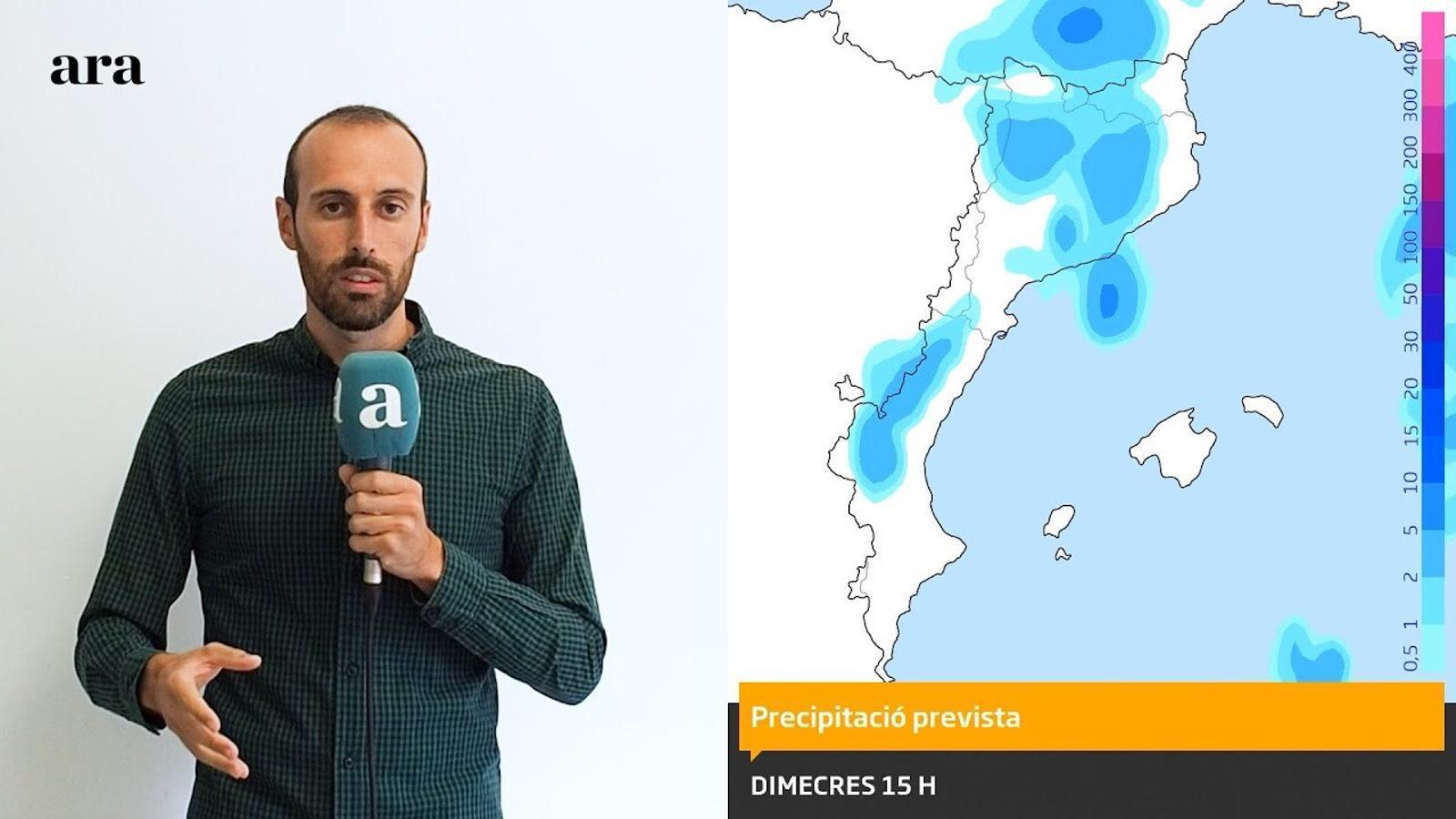 La méteo: últim dia de temps insegur i xàfecs a molts indrets