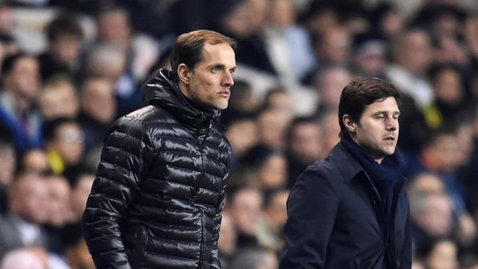 Mauricio Pochettino (a la dreta) ocuparà el lloc de Thomas Tuchel al PSG
