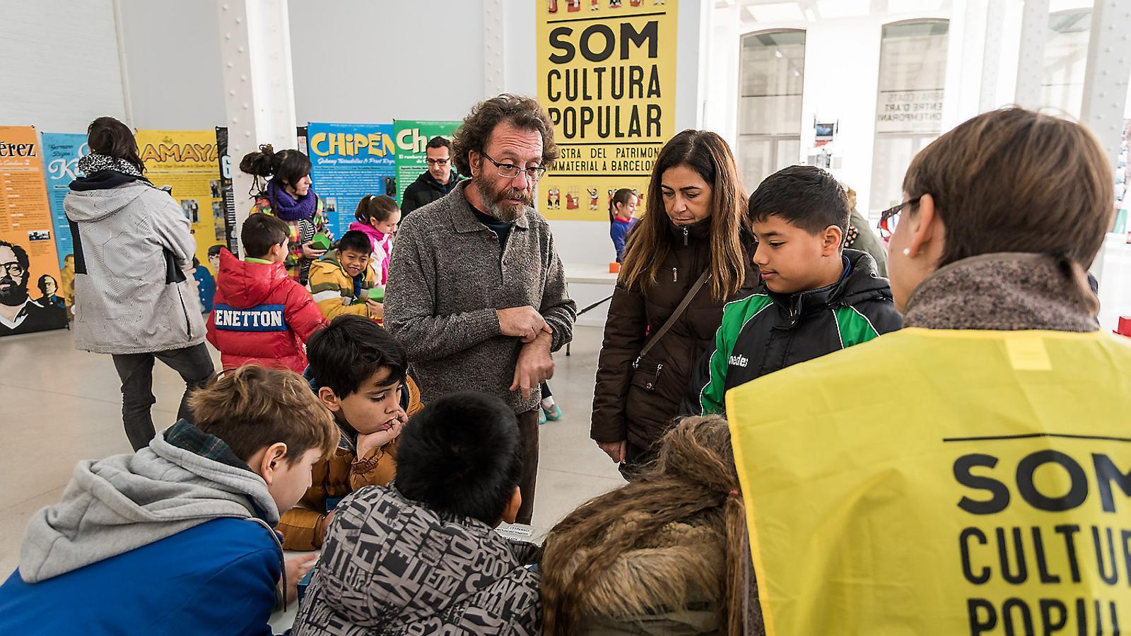 Una fotografia de la primera edició de la trobada Som Cultura Popular a Barcelona.