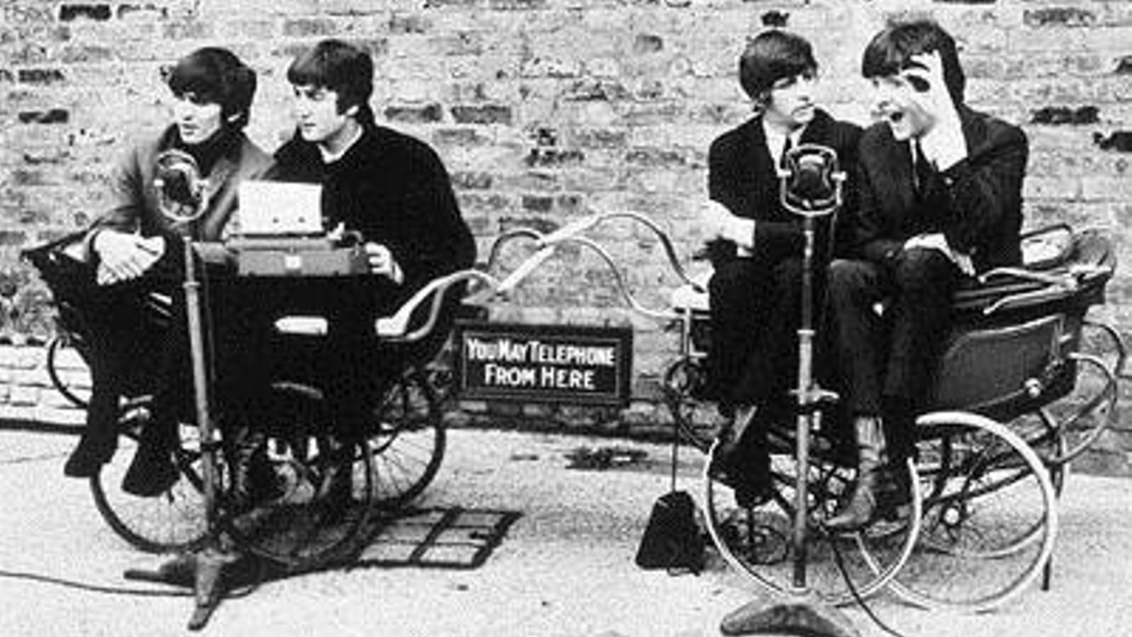 Fotograma de la pel·lícula¡Qué noche la de aquel día!, dirigida l'any 1964 per Richard Lester i protagonitzada pels Beatles.