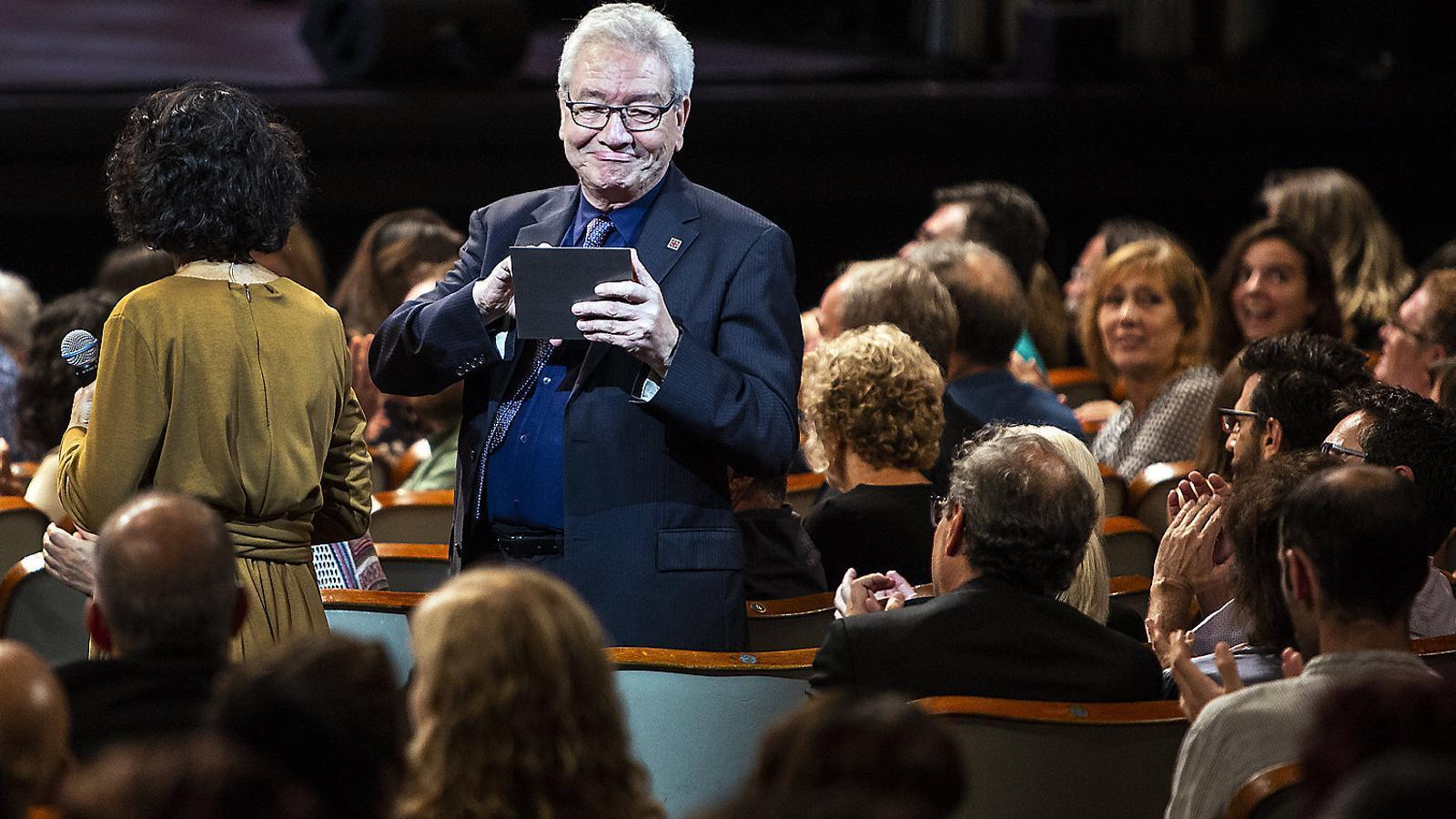 El president del Grup Focus, Daniel Martínez, premiat ahir durant la gala.