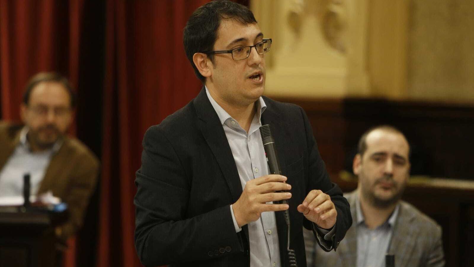 El conseller de Model Econòmic, Turisme i Treball del Govern, Iago Negueruela, aquest dimarts en el Parlament