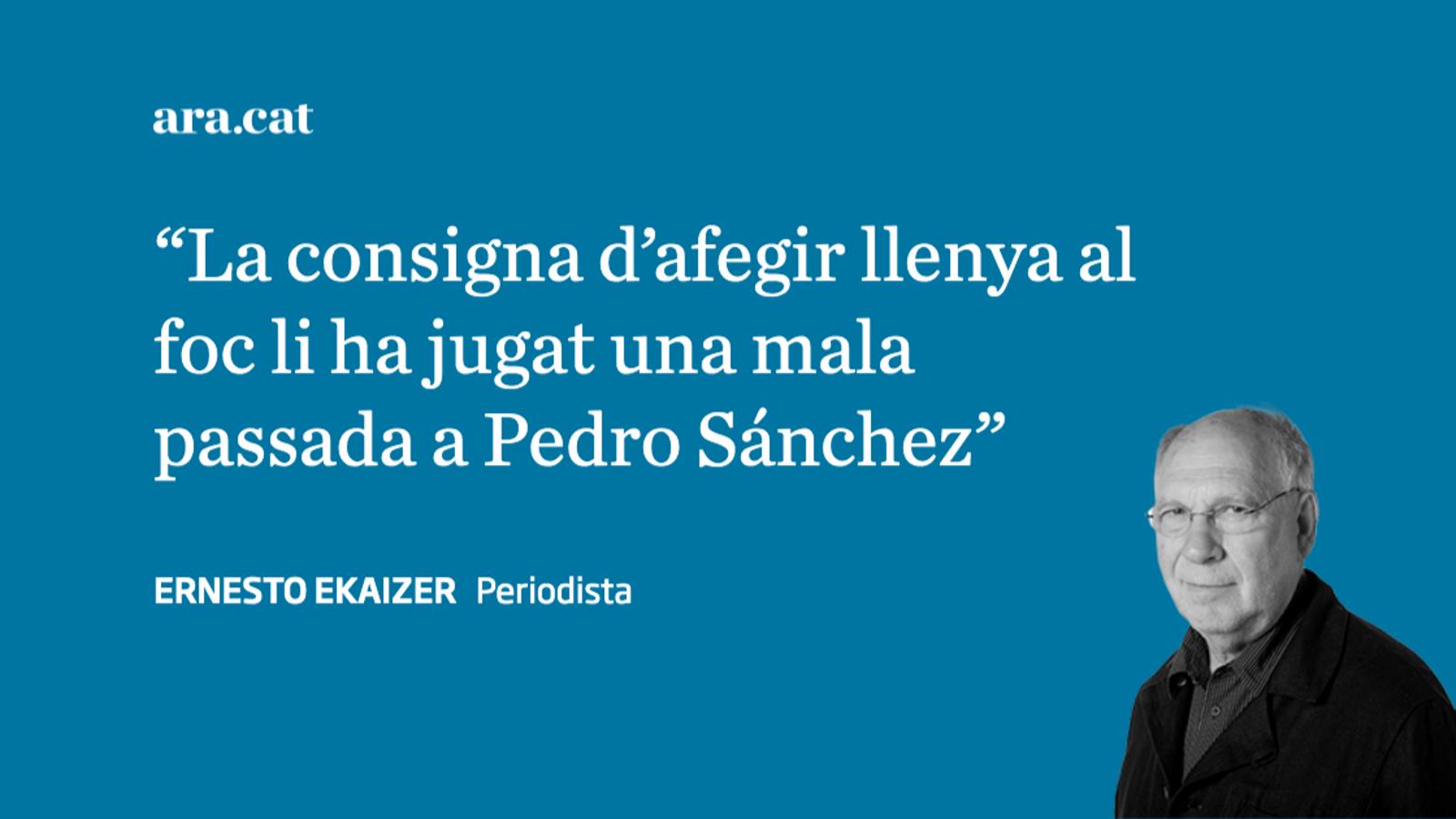 Sánchez fica la pota amb Puigdemont