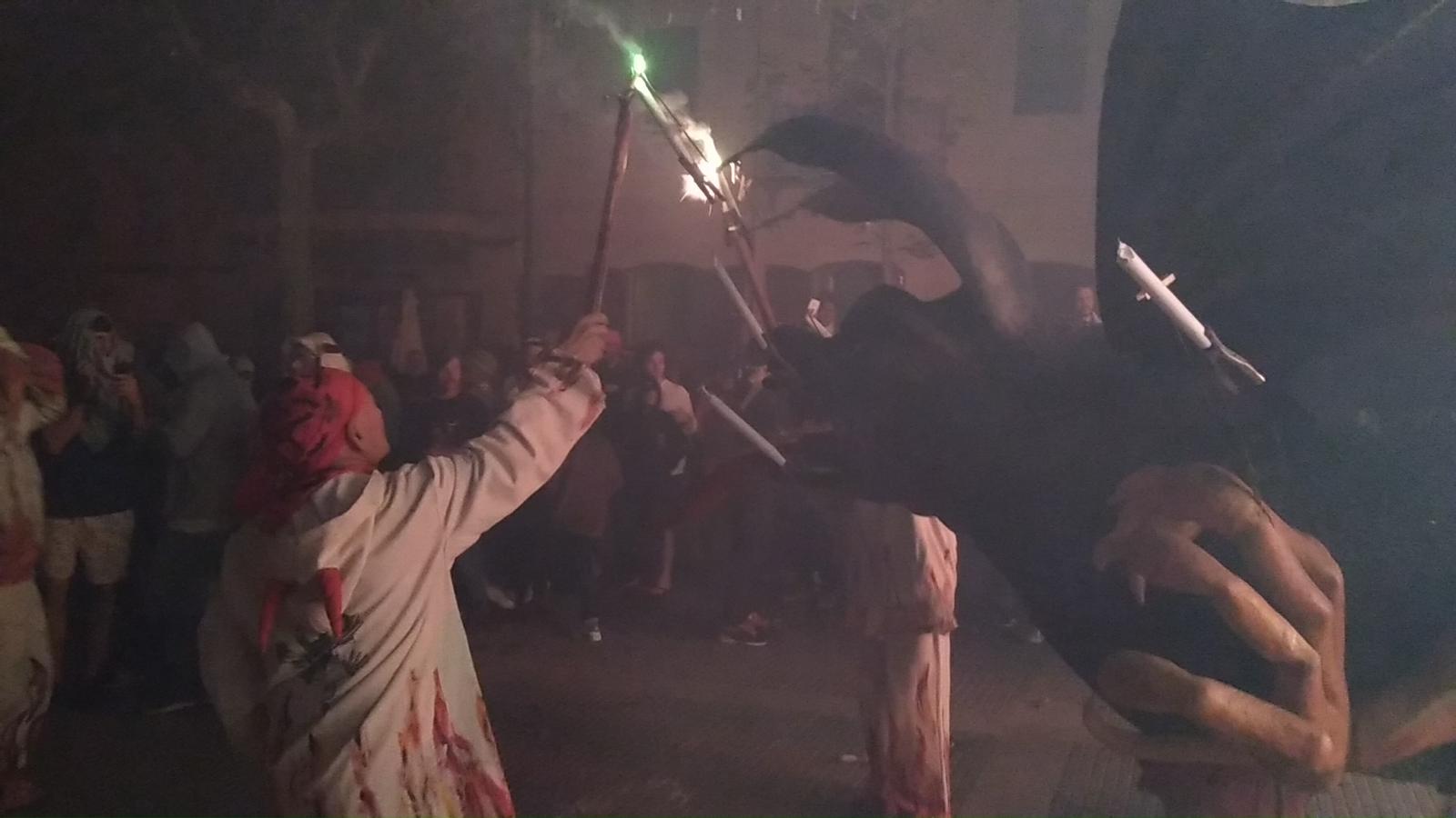 Na Marranxa, en el correfoc de tancanment de festes