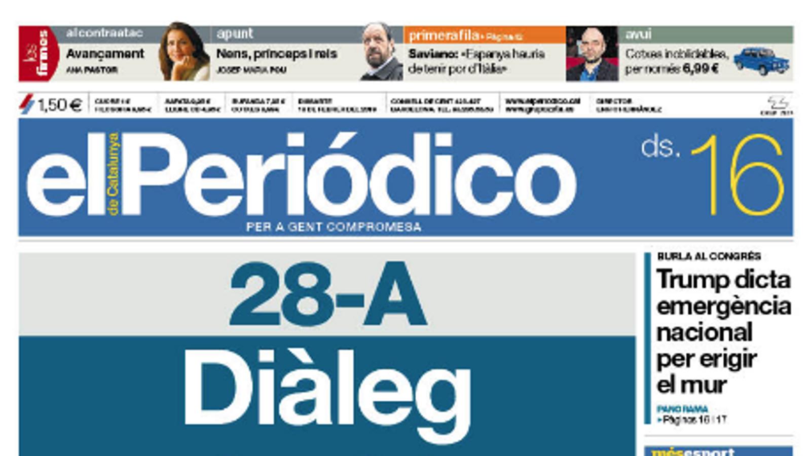 portada periodico 16/02/19