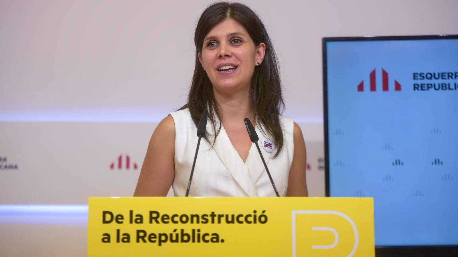 La secretària general adjunta d'ERC, Marta Vilalta, aquest dilluns.